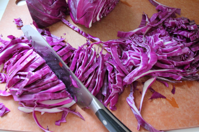 Shredding Cabbage