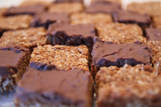 Chocolate and plain Crunchies
