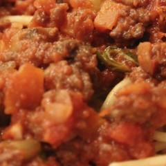 Lighter Beef Bolognese