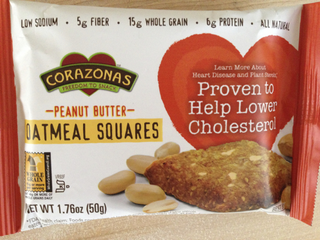 Corazonas Peanut Butter Oatmeal Square