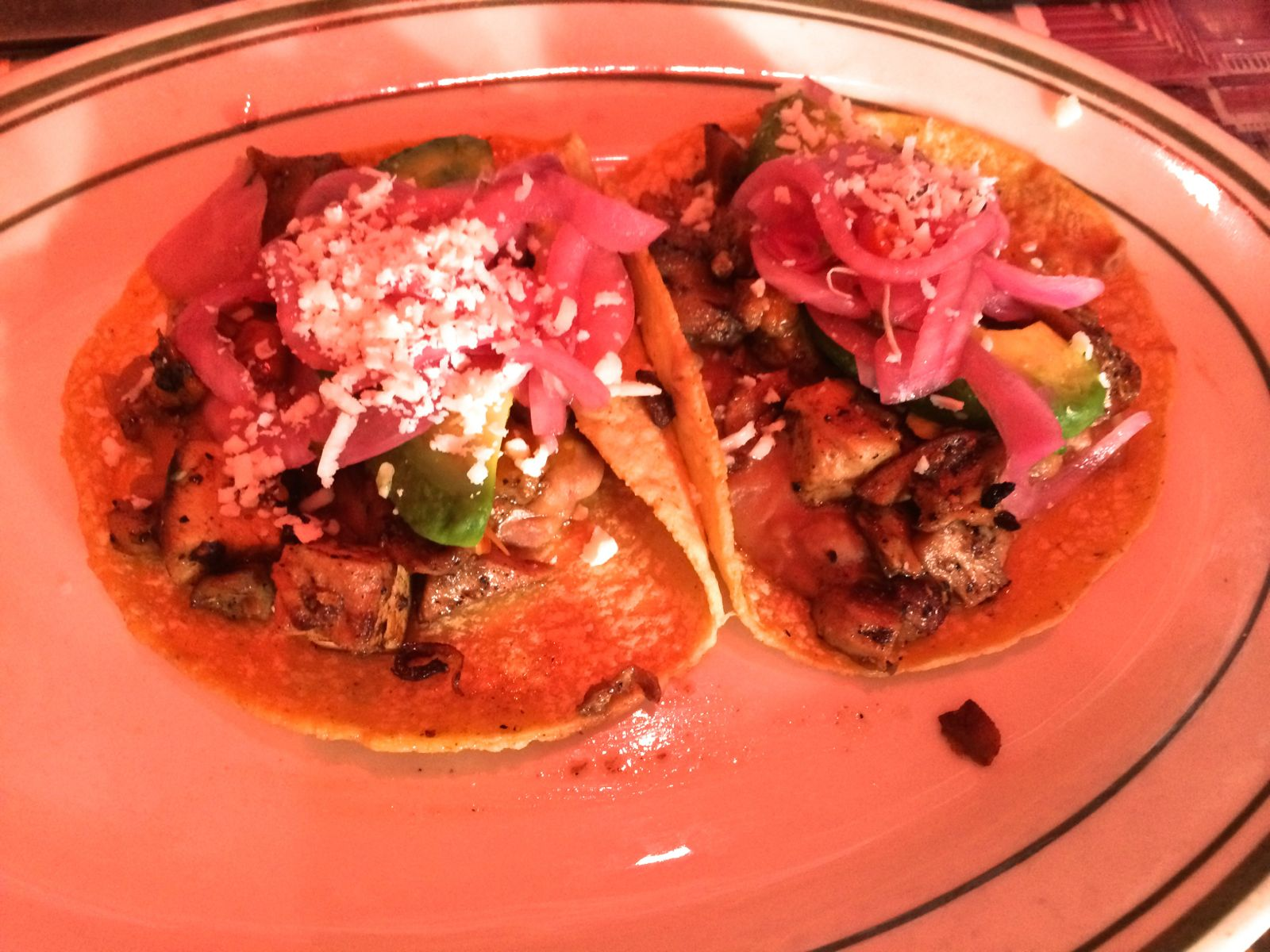 Chicken Tacos at Pink Taco
