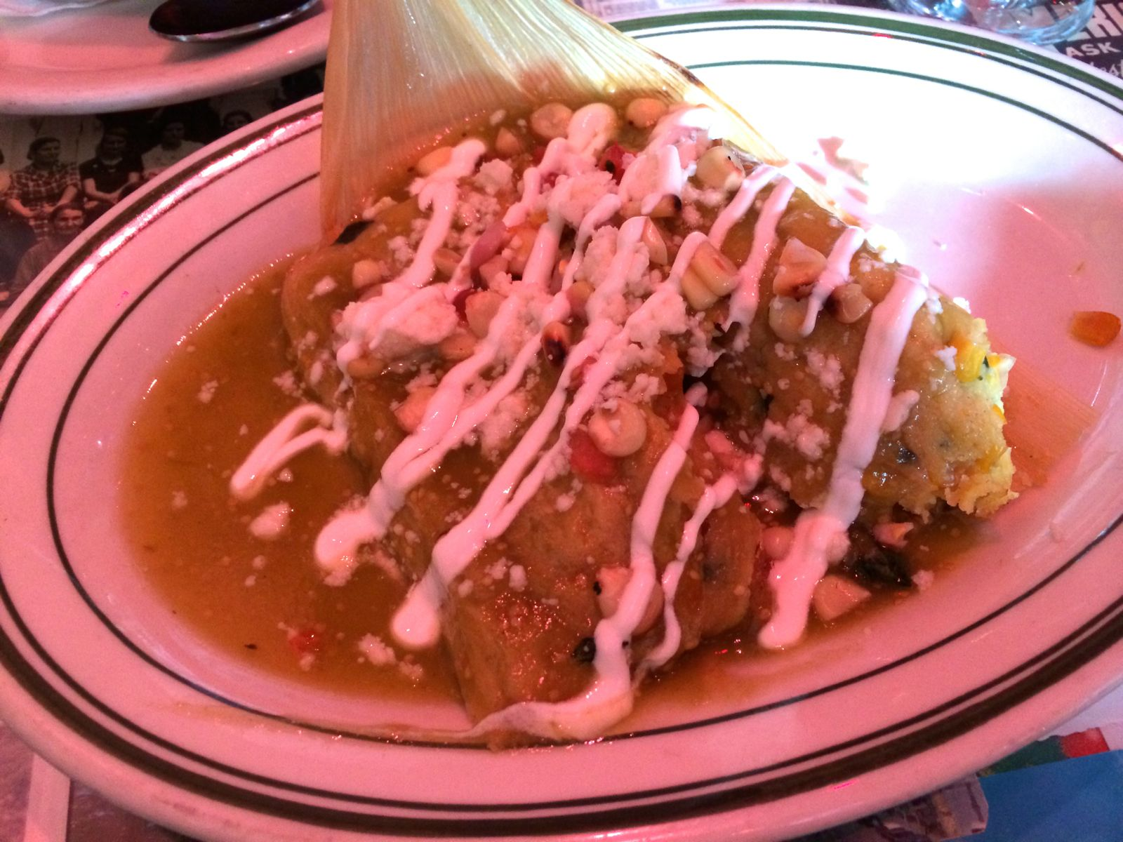 Sweet Corn Tamales at Pink Taco
