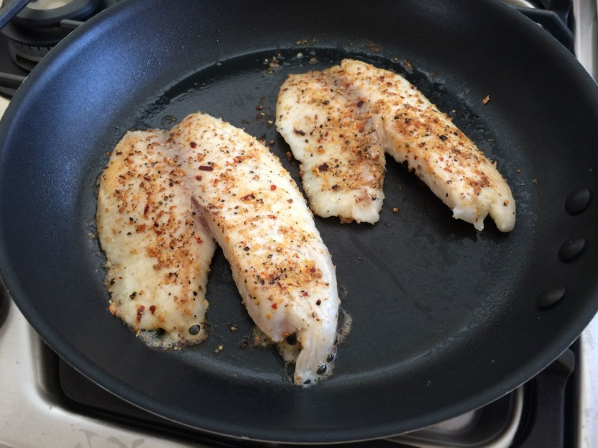 Tilapia Filets with Trader Joes Everyday Seasoning
