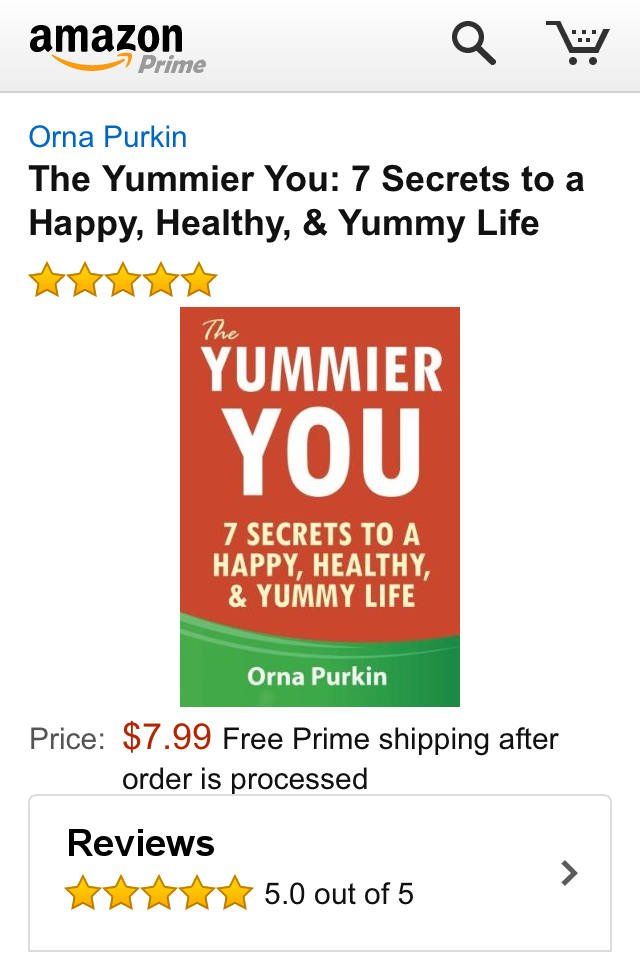 The Yummier You by Orna Purkin on Amazon